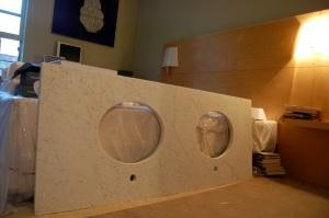 cararra marble vanity